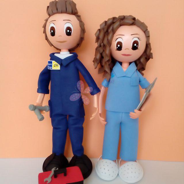 fofucha enfermera y fontanero
